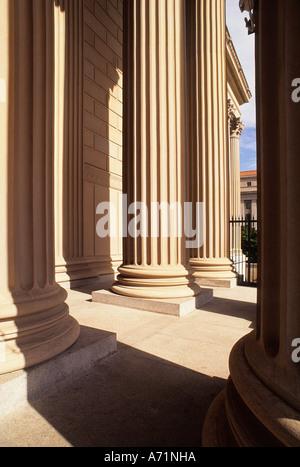 USA Washington DC Piliers architecturaux des Archives nationales des États-Unis d'Amérique Building