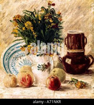 'Fine Arts, Vincent van Gogh, (1853 - 1890), peinture, 'Still life', vers 1886, von der Heydt museum, Wuppertal, historique, h Banque D'Images