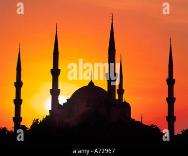 Mosquée Sultan Ahmet Camii Mosquée bleue à Istanbul Turquie Banque D'Images
