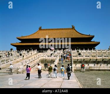 Salle de l'Harmonie Suprême Palais impérial de la Cité Interdite, Beijing Chine