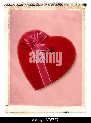 Valentine s day candy heart gift Banque D'Images