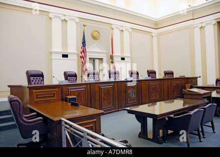 À l'intérieur de l'Édifice de la Cour suprême de l'État de Floride, Tallahassee Banque D'Images