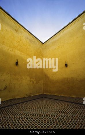 Mausolée de Moulay Ismail, dans la ville de Meknes Maroc Banque D'Images
