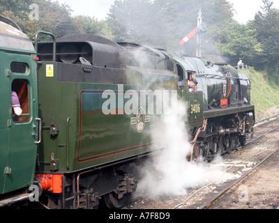 Moteur à vapeur restauré conservé à Ropley 34016 Station sur la ligne de cresson partie de milieu préservé et restauré de Hants railway Hampshire England UK Banque D'Images