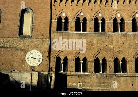 Italie, Toscane, Sienne, l'église Santa Maria della Scala hôpital construit au 9ème siècle Banque D'Images
