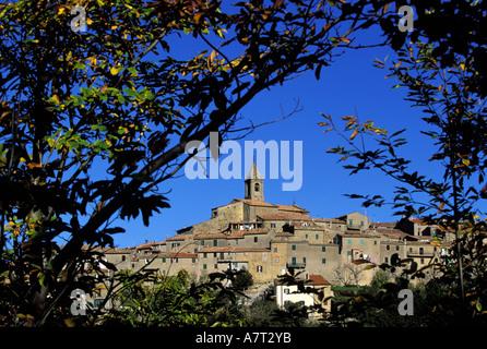 Italie, Toscane, Monticello Amiata près de Mont Amiata Banque D'Images