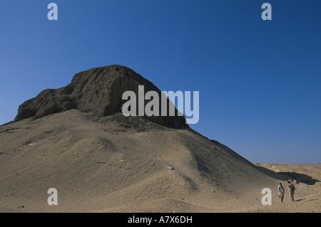 L'Egypte, de l'Égypte Hawara, Pharoah's, anciennement le calcaire cased pyramide avec mudbrick core, Amenemhet III, Banque D'Images