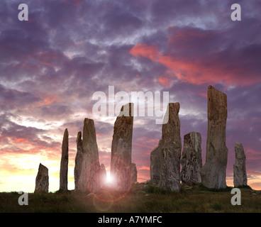Fr - Outer Hebrides: callanish standing stones sur l'île de Lewis