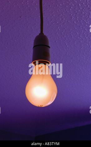 L'ampoule électrique traditionnel plafond suspendu Banque D'Images