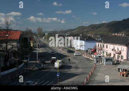 Copsa Mica est la ville la plus polluée d'Europe Avril 2007 Roumanie Banque D'Images