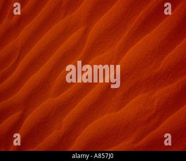 Le désert de Simpson, de l'Australie. Close-up de remous à sable rouge. Banque D'Images