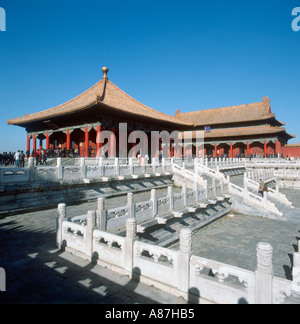 Bao il Dian Hall, Imperial Palace, Forbidden City, Beijing, Chine. Prises en 1987.