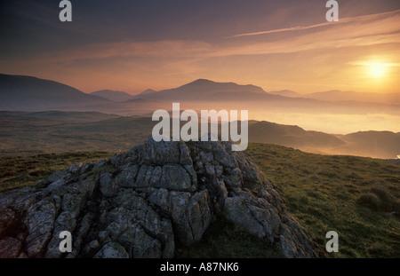 À l'aube d'Eskdale nr Cumbria England UK Banque D'Images