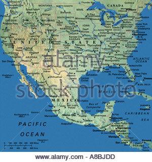 Carte Usa Canada Mexique.Cartes Carte Usa Middle West East Coast New England States