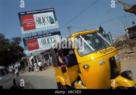 L'immobilier est en plein essor autour de Hi-Tech City sur les jupes de Hyderabad Banque D'Images