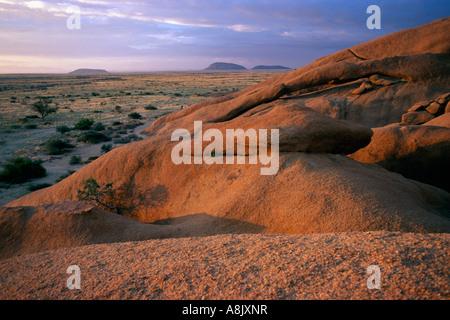 Spitzkoppe Désert du Namib Namibie Banque D'Images