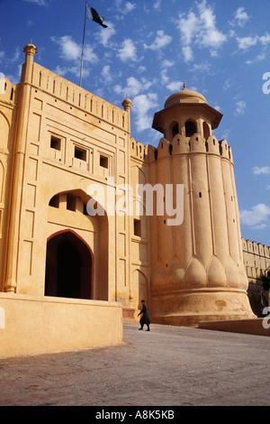 Le Pakistan, Lahore, Alamgiri Gate, fort de Lahore Banque D'Images