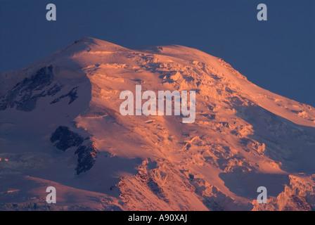 Coucher de soleil sur le Mont Blanc, Chamonix, France Banque D'Images