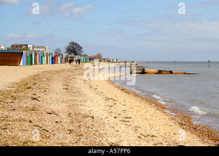 Angleterre Essex MERSEA Island Beach Banque D'Images