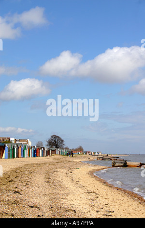 Mersea Island, Plage, Essex, Angleterre, Royaume-Uni. Banque D'Images