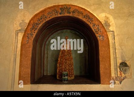 Illustrations de salle à manger, Hôtel Camino Real, hôtel, ex-monastère, ex-couvent, Oaxaca de Juarez, Oaxaca, État Banque D'Images