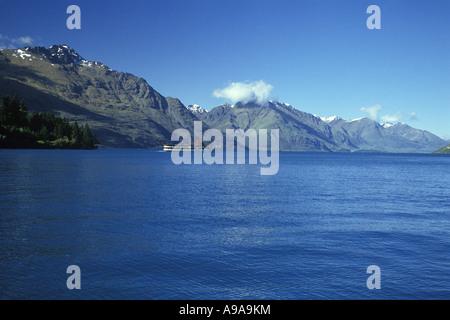 Le Lac Wakatipu Queenstown ile sud Nouvelle Zelande Banque D'Images