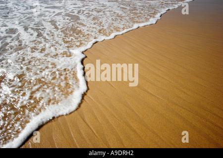 La marée de l'océan ou de l'onde pour une plage de sable Banque D'Images