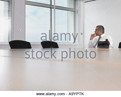 Businessman thinking Banque D'Images