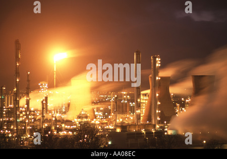 Raffinerie de pétrole de Grangemouth, Falkirk, Ecosse, Royaume-Uni.