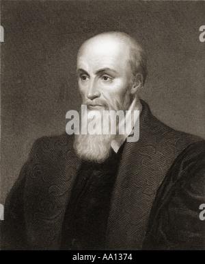 Michel de l'hôpital ou l'hôpital, 1507 - 1573. Homme d'État français, avocat et humaniste.