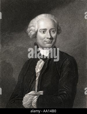 Jean-Baptiste le Rond d'Alembert, 1717 - 1783. Le mathématicien, physicien, philosophe, scientifique américain, Banque D'Images