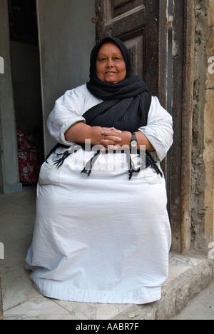 Femme égyptienne copte copte, Le Caire, Égypte Banque D'Images