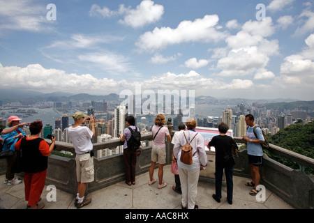 Vue du sommet, de Hong Kong, Chine Banque D'Images