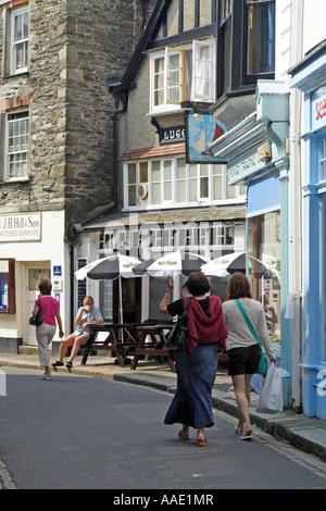 'La ligne' public house, Fowey, Cornwall, UK. Banque D'Images