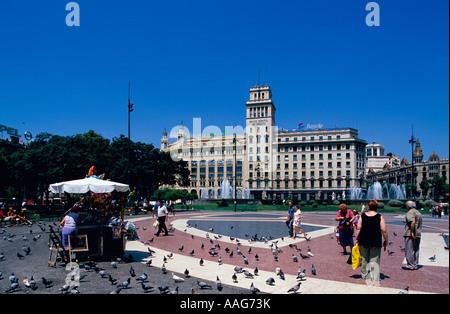 Elxample la Placa Catalunya Barcelone Catalogne Espagne