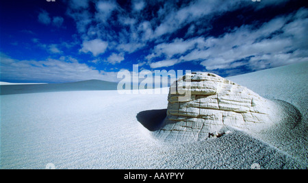 White Sands National Monument Yardang Banque D'Images