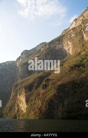 Canon del Sumidero, Canyon du Sumidero, le Rio Grijalva, près de San Cristobal de las Casas, Chiapas, Mexique Banque D'Images