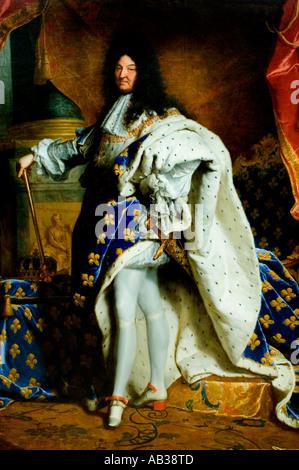 Louis XIV, Le Roi Soleil Le Roi Soleil (1638-1715), 1701, Hyacinthe Rigaud (1659-1743) Banque D'Images