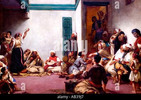 Maroc 1839 Ferdinand Victor Eugène Delacroix 1798 - 1863 France Banque D'Images