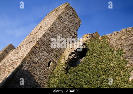 Château de Middleham Maison d'enfance de Richard III au nord Yorkshire Angleterre Banque D'Images