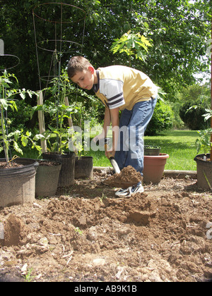 Creuser dans le jardin