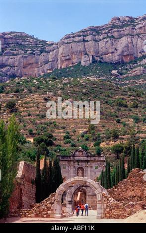 .Priorat la Scala dei chartreuse, Morera de Montsant. , Province de Tarragone.La Catalogne. Espagne Banque D'Images