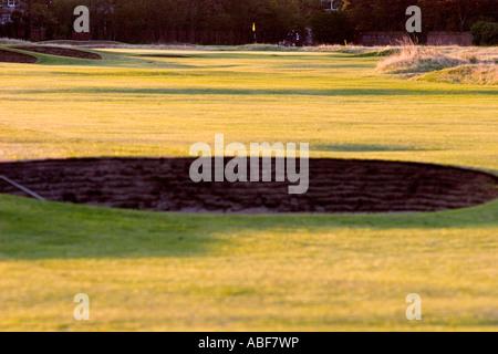 Bunker ou à la fosse de sable à Hoylake. Banque D'Images
