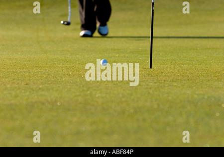 Golfeur mise. Banque D'Images