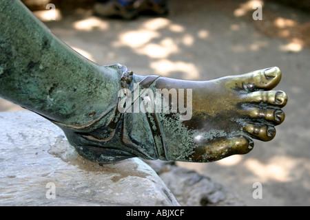 Statue de Ravello Italie pied Bronze Villa Cimbrone