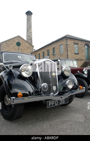 Wolseley 25 hp vintage car à l'Elsecar heritage site, Barnsley, South Yorkshire, Angleterre, Royaume-Uni