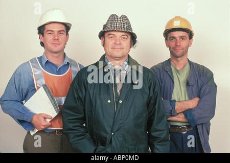 Le groupe de 3 commerçants Angleterre Banque D'Images