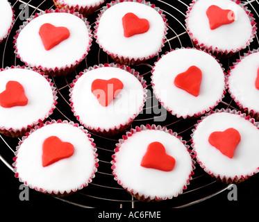 Coeur CUP CAKES / Gâteaux de fées Banque D'Images