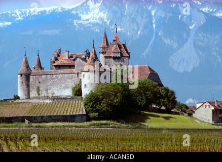 Chateau Aigle Vaud Suisse Banque D'Images