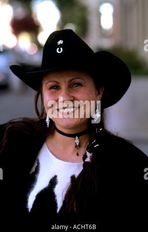 Résumé Portrait de cowgirl à Billings Montana Banque D'Images